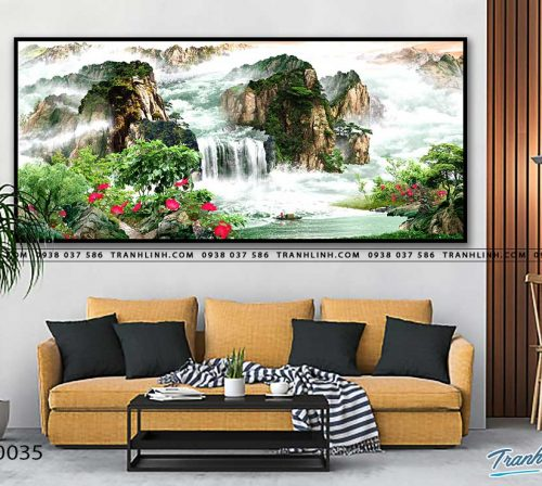 tranh in canvas phong canh phong thuy pt0035