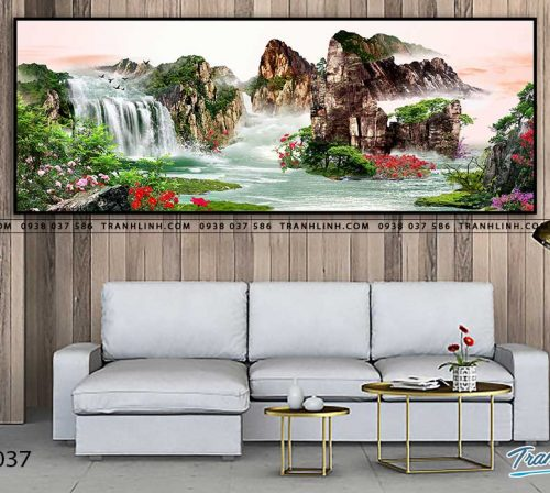 tranh in canvas phong canh phong thuy pt0037