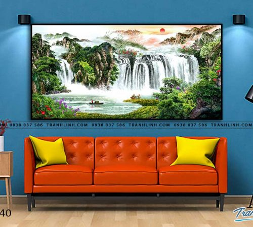 tranh in canvas phong canh phong thuy pt0040