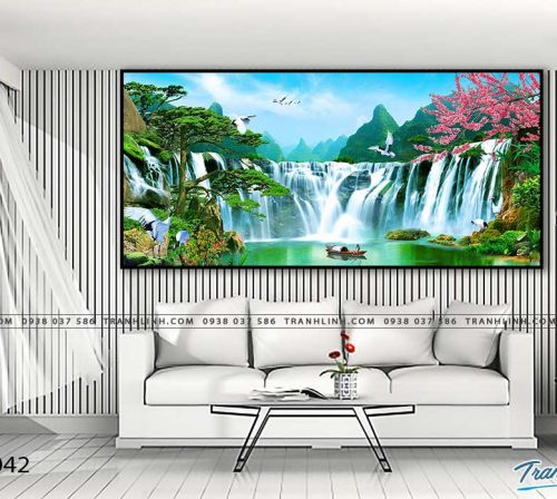 tranh in canvas phong canh phong thuy pt0042