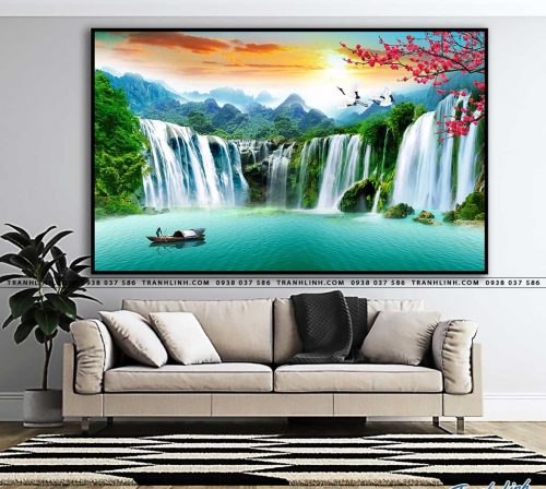 tranh in canvas phong canh phong thuy pt0044