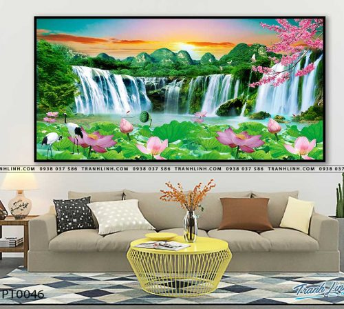 tranh in canvas phong canh phong thuy pt0046