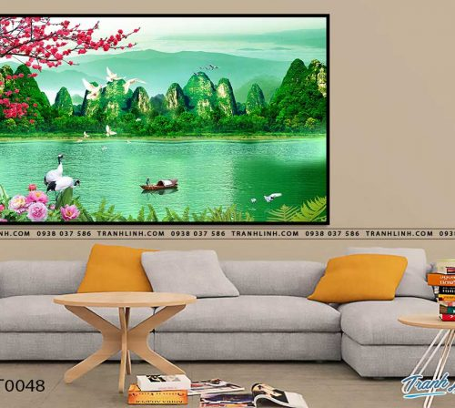 tranh in canvas phong canh phong thuy pt0048