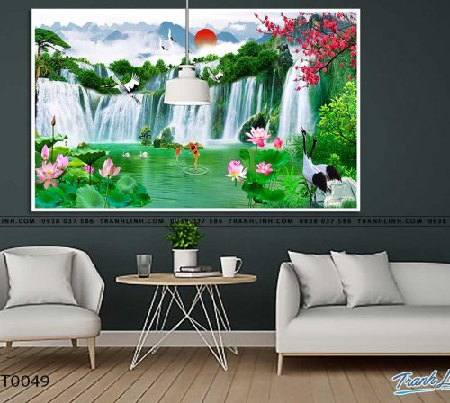 tranh in canvas phong canh phong thuy pt0049