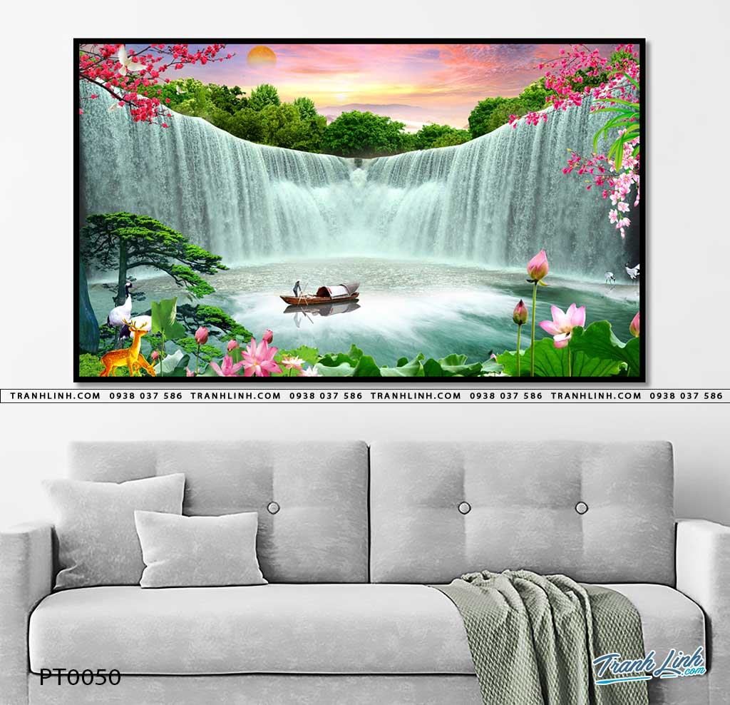 tranh in canvas phong canh phong thuy pt0050
