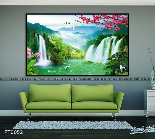 tranh in canvas phong canh phong thuy pt0052