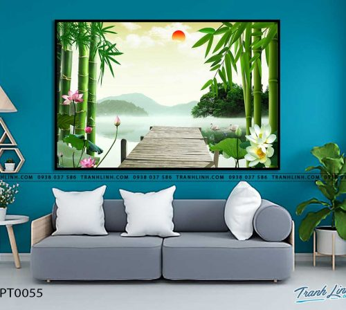 tranh in canvas phong canh phong thuy pt0055