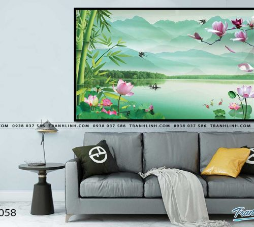 tranh in canvas phong canh phong thuy pt0058