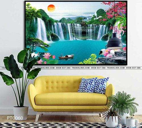 tranh in canvas phong canh phong thuy pt0060