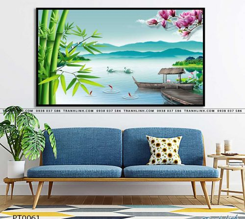 tranh in canvas phong canh phong thuy pt0061