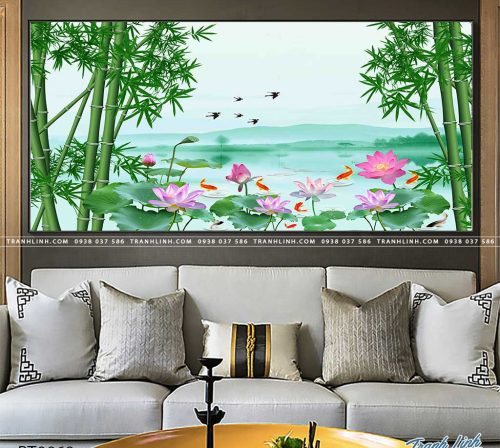 tranh in canvas phong canh phong thuy pt0069