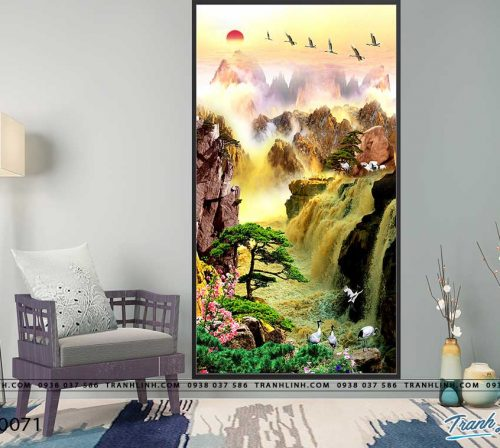 tranh in canvas phong canh phong thuy pt0071