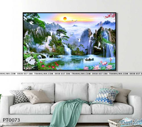 tranh in canvas phong canh phong thuy pt0073