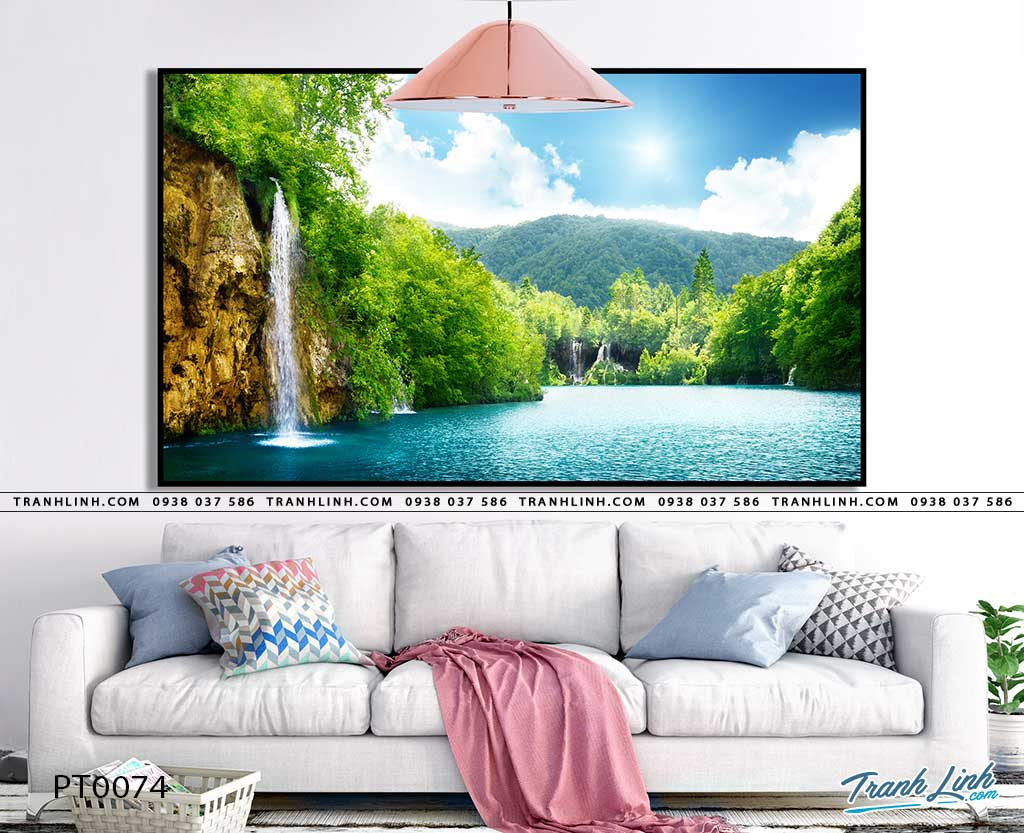tranh in canvas phong canh phong thuy pt0074