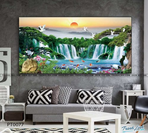 tranh in canvas phong canh phong thuy pt0077