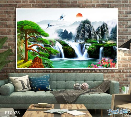 tranh in canvas phong canh phong thuy pt0078