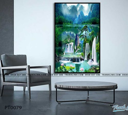 tranh in canvas phong canh phong thuy pt0079