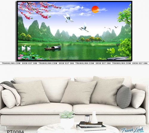 tranh in canvas phong canh phong thuy pt0084