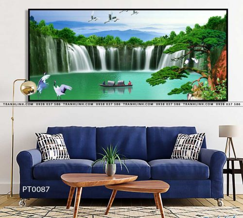 tranh in canvas phong canh phong thuy pt0087