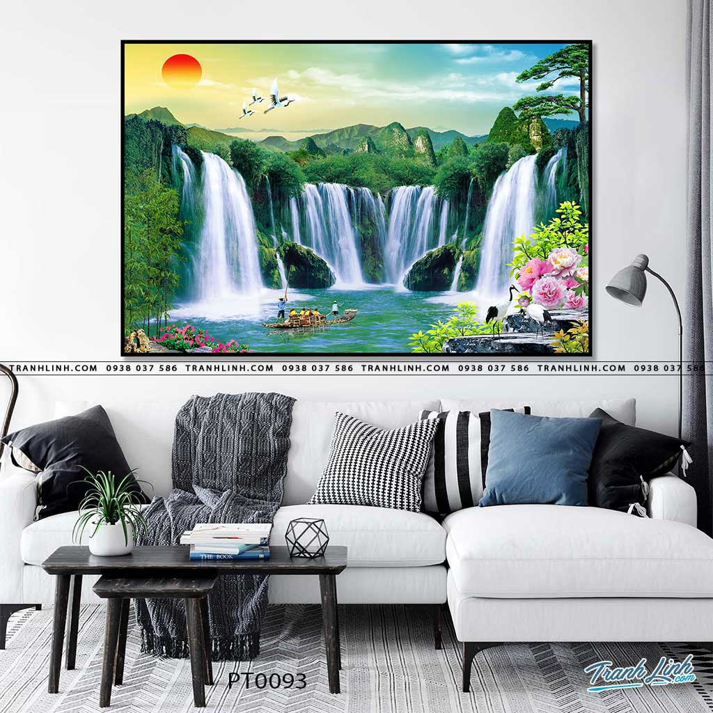 tranh in canvas phong canh phong thuy pt0093