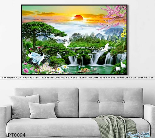 tranh in canvas phong canh phong thuy pt0094