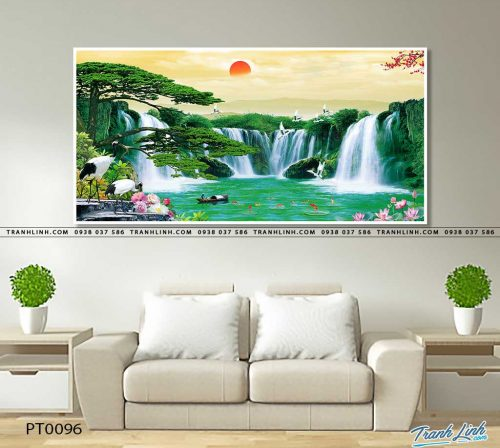tranh in canvas phong canh phong thuy pt0096