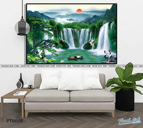 tranh in canvas phong canh phong thuy pt0098