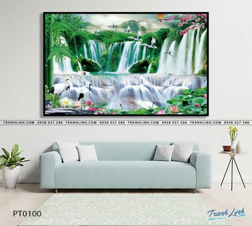 tranh in canvas phong canh phong thuy pt0100