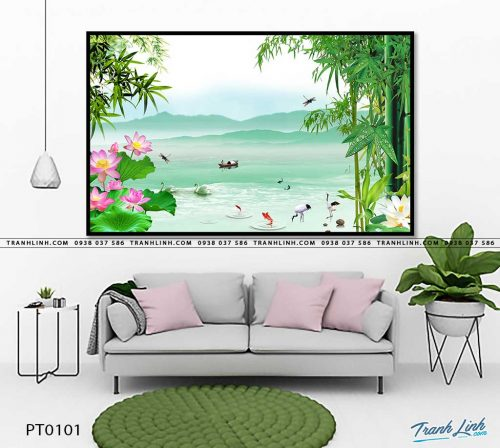 tranh in canvas phong canh phong thuy pt0101