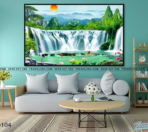 tranh in canvas phong canh phong thuy pt0104
