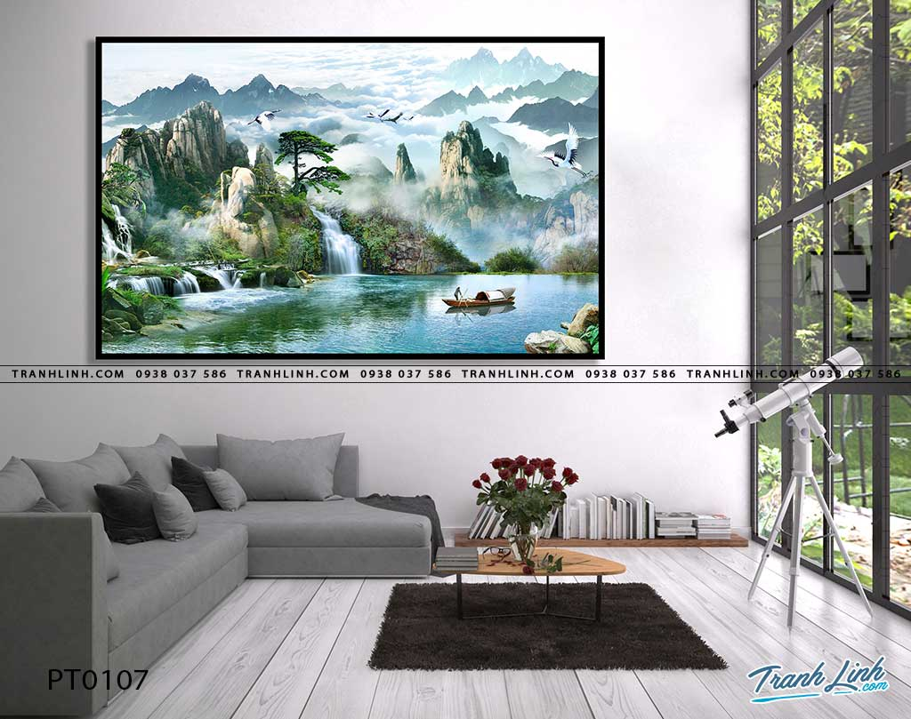 tranh in canvas phong canh phong thuy pt0107