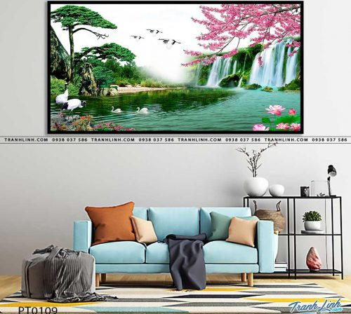 tranh in canvas phong canh phong thuy pt0109