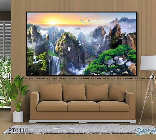 tranh in canvas phong canh phong thuy pt0110