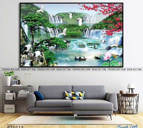 tranh in canvas phong canh phong thuy pt0113