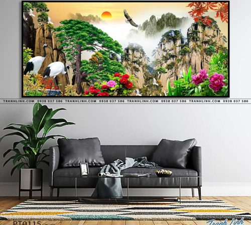 tranh in canvas phong canh phong thuy pt0115