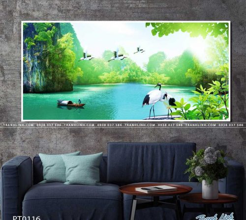 tranh in canvas phong canh phong thuy pt0116