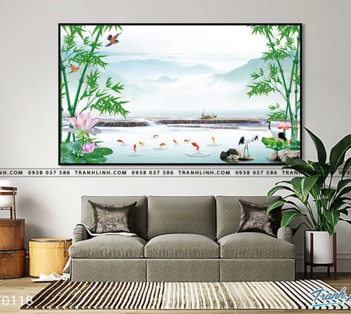 tranh in canvas phong canh phong thuy pt0118