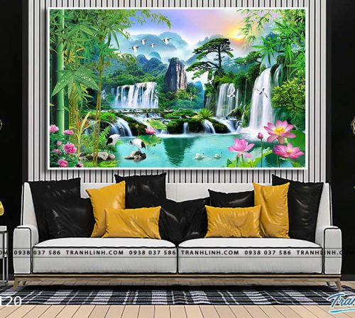 tranh in canvas phong canh phong thuy pt0120