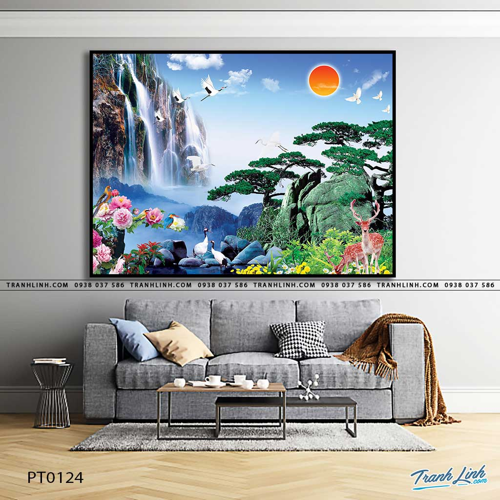 tranh in canvas phong canh phong thuy pt0124