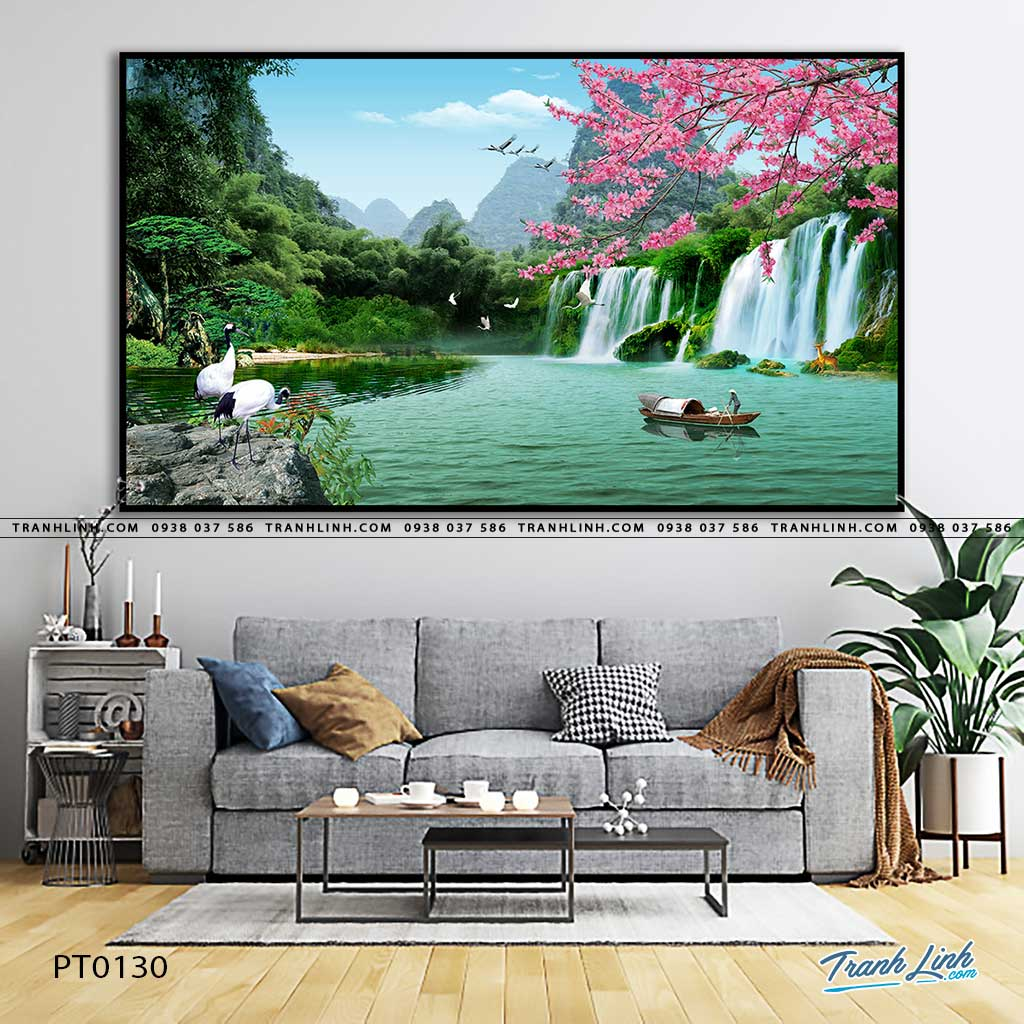 tranh in canvas phong canh phong thuy pt0130