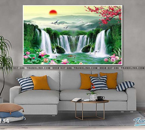 tranh in canvas phong canh phong thuy pt0134