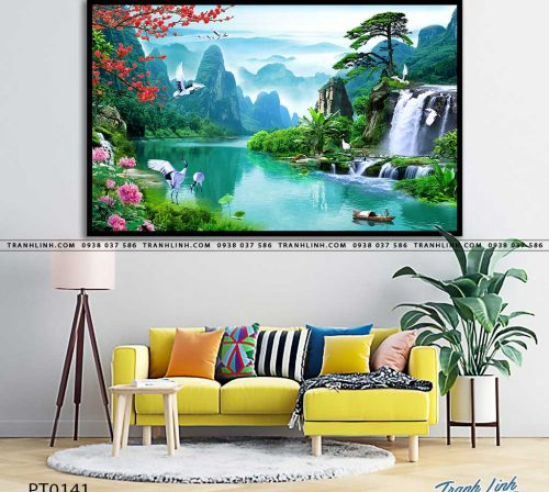 tranh in canvas phong canh phong thuy pt0141