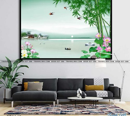 tranh in canvas phong canh phong thuy pt0142