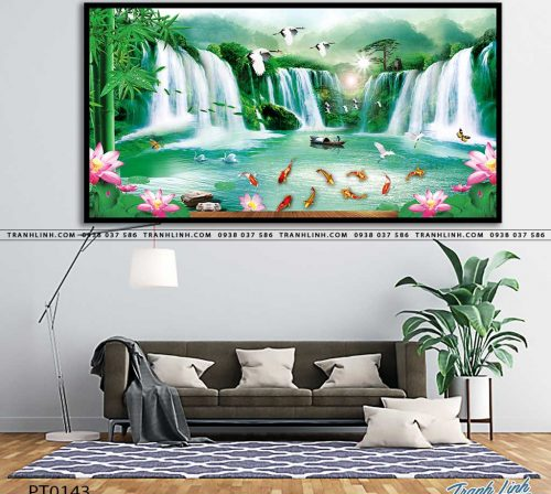tranh in canvas phong canh phong thuy pt0143