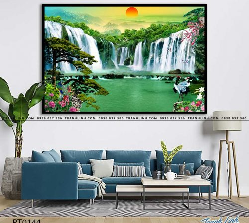 tranh in canvas phong canh phong thuy pt0144