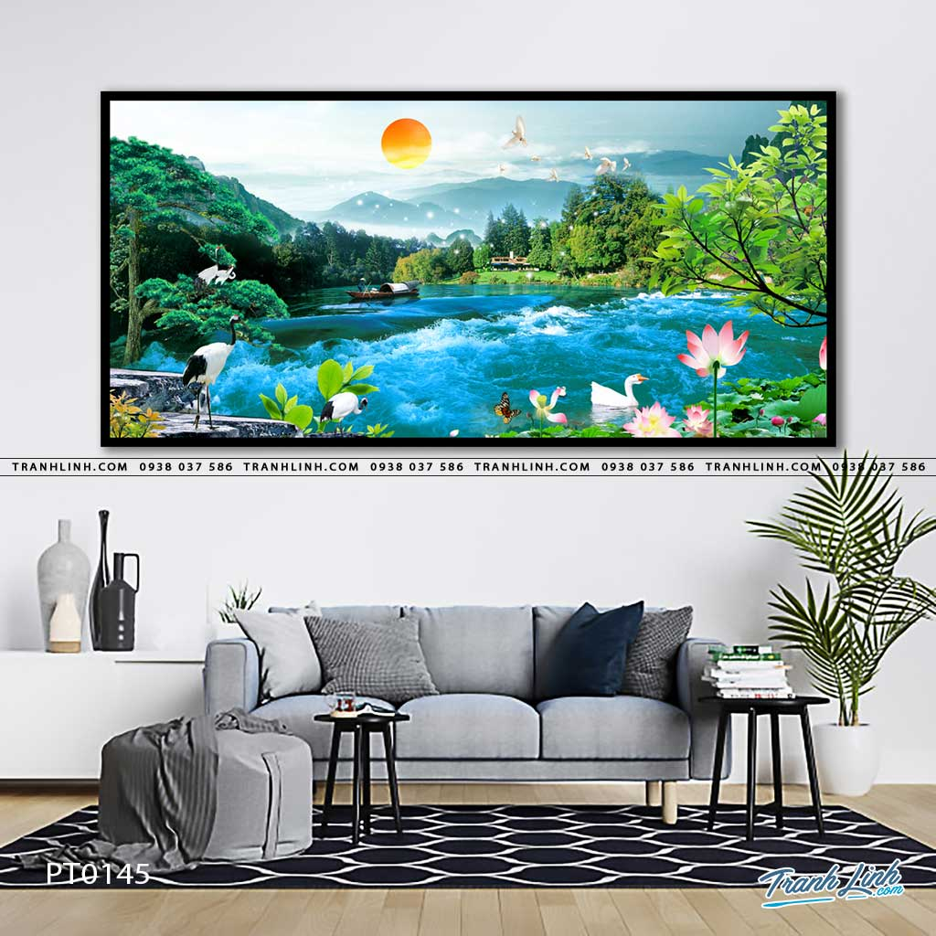 tranh in canvas phong canh phong thuy pt0145