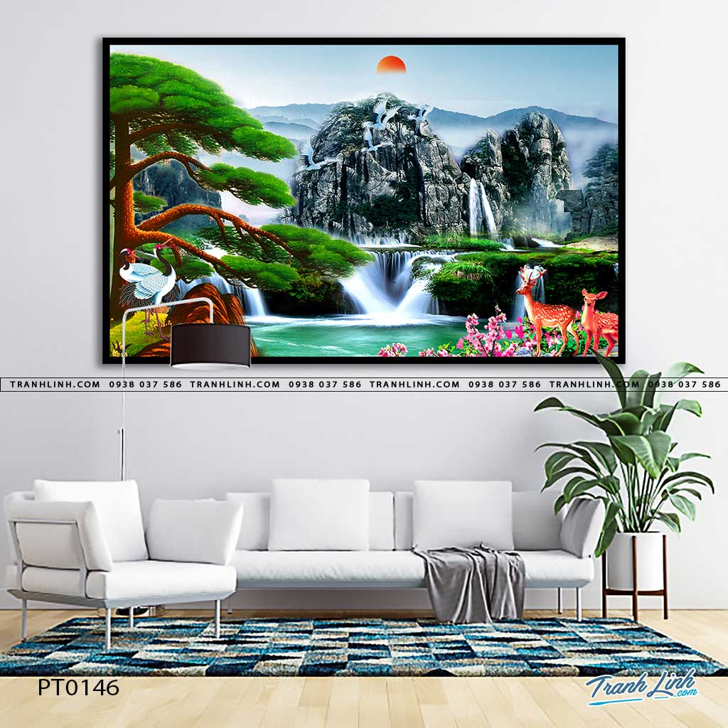 tranh in canvas phong canh phong thuy pt0146
