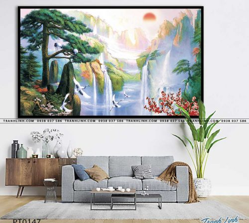 tranh in canvas phong canh phong thuy pt0147