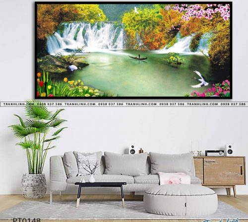 tranh in canvas phong canh phong thuy pt0148