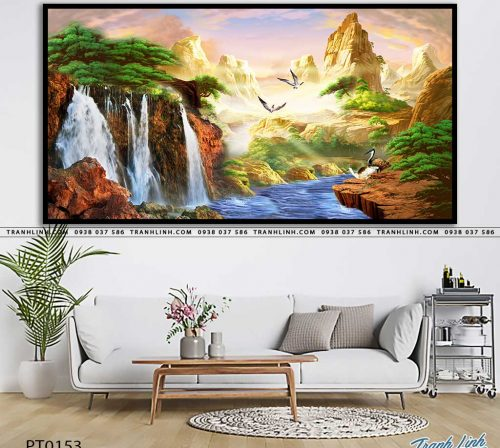 tranh in canvas phong canh phong thuy pt0153